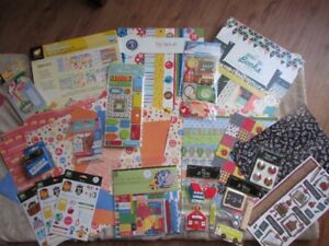 School scrapbooking kit, Celebration bundle and storage case kit
