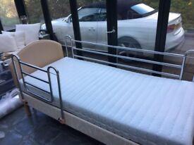 Konturcare Single Electric Adjustable Care Bed with Memory Foam Mattress