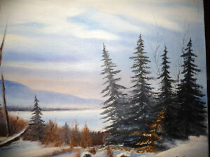 """Winter Trail"" Original Oil by S. Irsag Stratford Kitchener Area image 3"