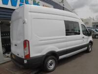 2014 Ford TRANSIT 350 LWB HR 125ps CREWVAN *9 SEATER* Manual Crew Van
