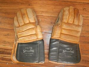 ANTIQUE SPALDING HOCKEY GLOVES