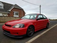 Honda ek coupe with b18 ecu coilovers spoon ect lsd may px swap why 2450****