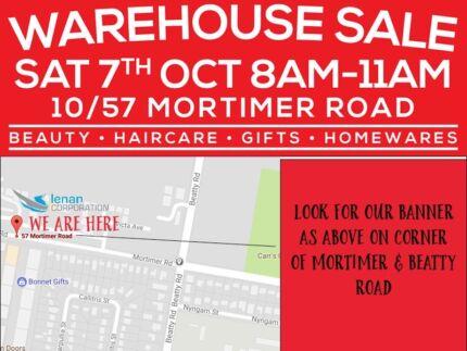 GARAGE/WAREHOUSE SALE -  8am - 11am SATURDAY 7TH OCTOBER 2017
