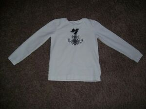 Girls White Shirt Size 5