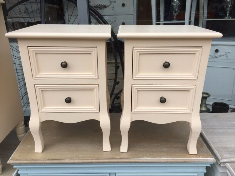 Shabby Chic Small French Style Cream Bedside Tables