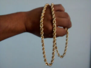 chaine or,28gram rope gold 10k torsade 30 pouce 8mm,,1 100,00 $