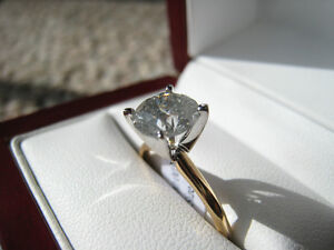 1.85 Ct 14K Gold Diamond Solitaire H Color, I3 Clarity, Fair cut London Ontario image 3