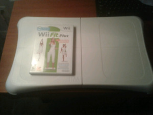 Wii fit board and Wii fit plus