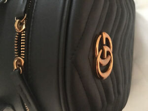 Gucci - Women's leather backpack, Black
