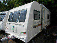 Bailey Unicorn Cadiz 2012 Touring Caravan Fixed Single Beds With MotorMover