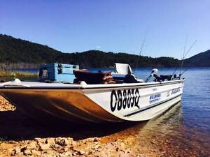 11 Foot Tinnie 8 HP Yamaha Outboard, Aluminum Boat Nerang Gold Coast West Preview