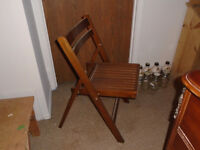 ***** Folding Wooden Chairs *****