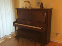 turn of the century upright grand piano