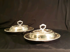 MidCentury Victorian Plate EP Copper 1500 Serving Dishes/ Lids