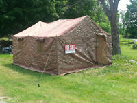 12 x 14 x 8 ft High  Military Tent with Woodstove hole