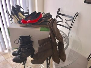Ladies shoes,-boots, wedges (all for $15)