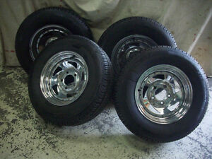 MUSCLECAR MAG RIMS WITH TIRES