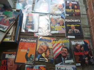Box of Vintage macleans magazine