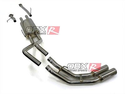 OBX Exhaust Dual Side Catback Exhaust F:ITS 2009-2014 Tundra V8 5.7L Crew Cab