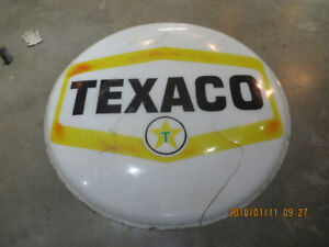 Vintage Texaco gas  sign with lighting housing 6 foot diameter