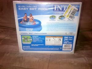 POOL 8FT X 30INCHES INTEX INFLATABLE-BOX NEVER OPENED-