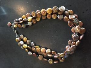 Silpada Bronze pearl Quartz and sterling silver