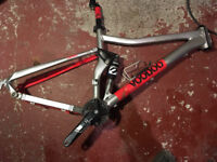"Voodoo Canzo Full Suspension MTB Frame 18"" Mountain Bike"
