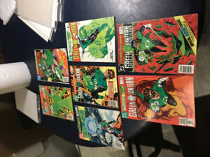 LOT OF 7 GREEN LANTERN COMIC BOOKS FROM EARLY 1980'S