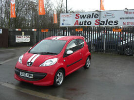 2007 PEUGEOT 107 XS SPORT 1L ONLY 92,475 MILES, FULL SERVICE HISTORY