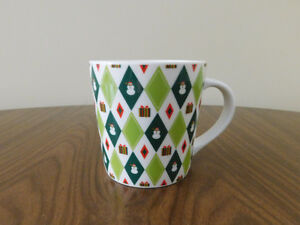 Starbucks Collectible Barista Red/White/Green Coffee Mug