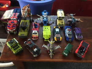 16 Transformers LOT including a large Optimus Prime