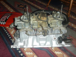 Dodge 340 sixpack complet (new)440 Mopar tunnel ram intake (new)