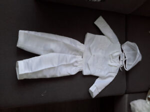 Baptism boy's suit with shoes.