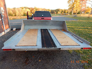Hyland double wide snowmobile trailer