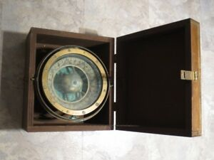 Ritchie Brass Compass Boston with Box  Serial Number 19003 1866