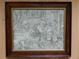 """1930 Railroad Print """"At The Old Depot"""" by C. D. Poage"""