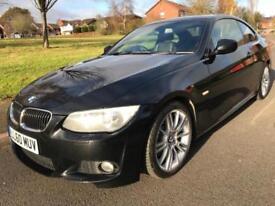 BMW 325 D M SPORT 3.LITRE T/DIESEL (2010 60) BLACK COUPE