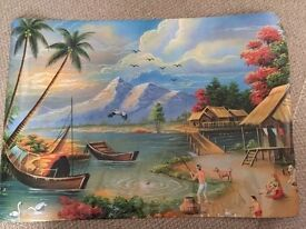 "4 large Indian village picture photos 24"" x 34"""