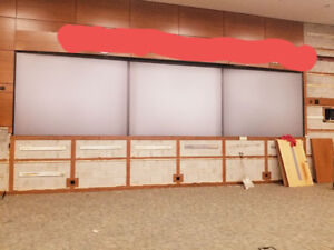 Used 8 ft x 12 ft Plexi-glass Rear-Projection Screen