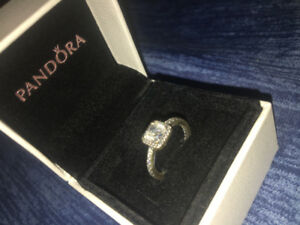Silver Diamond Pandora Ring for Sale (Size 5)