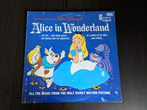 Vintage Collectible Alice In Wonderland Record (1208)