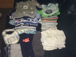 Newborn baby boy clothes - 35 pieces!
