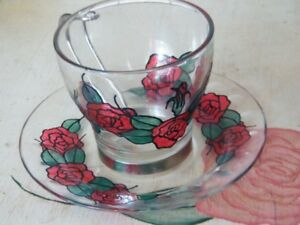 Red Roses Tea Cup And Saucer Set