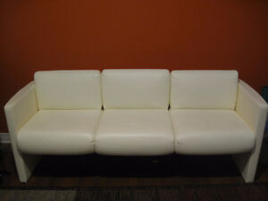 excellent contemporary genuine leather three seat sofa couch
