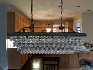 Warehouse of Tiffany - Jaden 4 light crystal island pendant