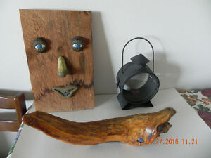Face-on-board +Candle lantern+Drift wood