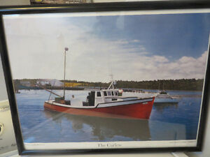 Framed Picture--Fishing Boat(Curlew)-Eastern Passage-Reduced