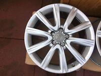 AUDI 18 inch alloy wheels, genuine AUDI