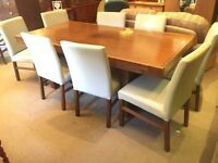 Barker + Stonehouse Dining Table + 8 Leather Chairs - Matching Items - UK Delivery
