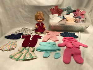 "Eight-inch doll and hand-made doll clothes ""SOLD!"""